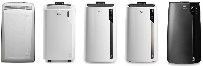 Productoverzicht PAC N82 Eco, PAC EM82 Eco, PAC EL92 Silent, PAC EL98 Silent, PAC EX120 Silent.